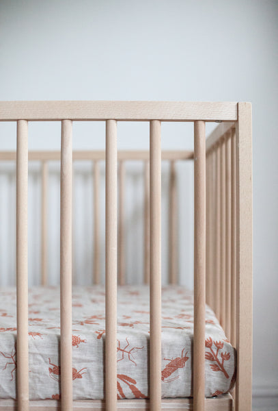 Fitted Linen Crib Sheet
