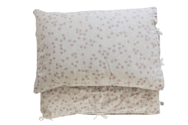 Linen Twin Bed Set - Elderflowers
