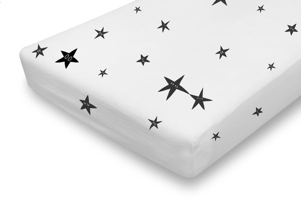 fitted crib sheet - stars