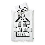 toddler/crib duvet set - house pets