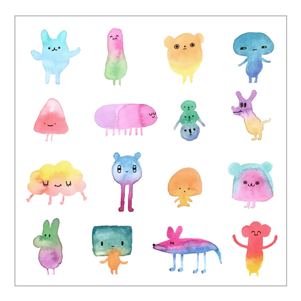 art print - watercolor characters