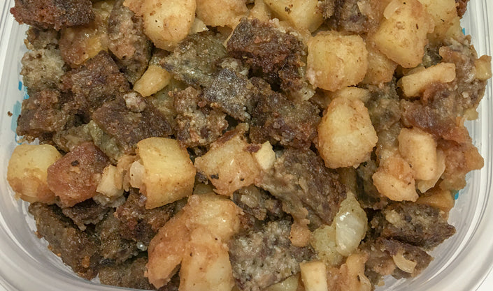 Apple scrapple hash is a recipe perfect for any meal.