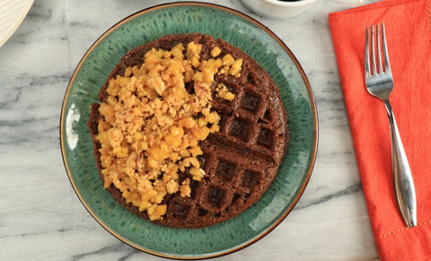Apple Scrapple Waffles
