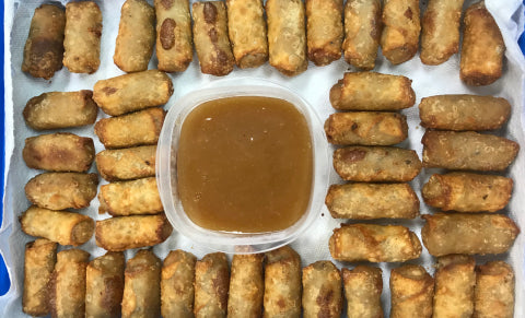Scrapple Gouda Mini Egg Rolls
