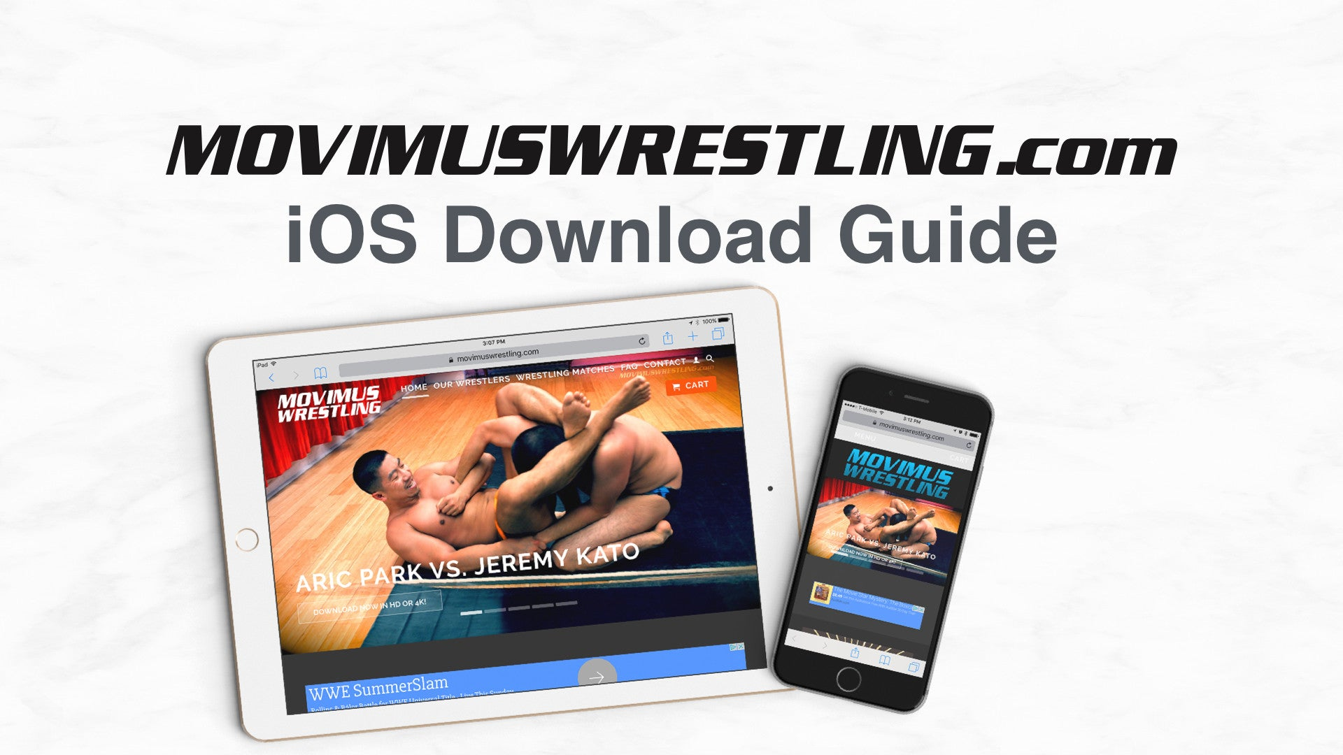 Update: How to download and watch Movimus Wrestling matches on your iOS devices