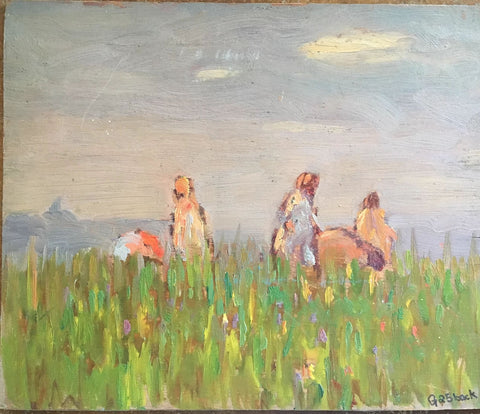 CHILDREN IN A FIELD, ISLE OF ORLEANS, Paginton, Group of Seven, Tom Thomson, AY Jackson, Odon Wagner, Lock Gallery, Alan Klinkhoff, Heffel, PAMA, Peel Art Gallery