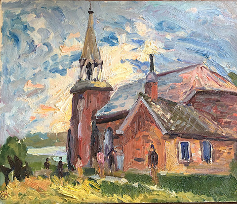 "GEORGE ALFRED PAGINTON, ""CHURCH, MORRISBURG"" 1960"