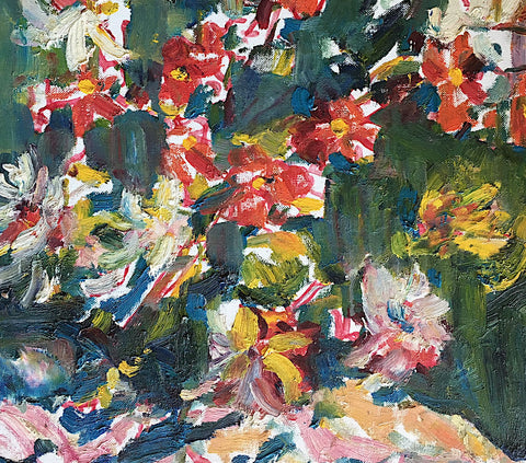 "GEORGE ALFRED PAGINTON, ""FLOWERING BUSH""  CIRCA 1980"