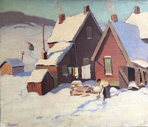 "GEORGE ALFRED PAGINTON ""HEAVY SNOW"" 1934"