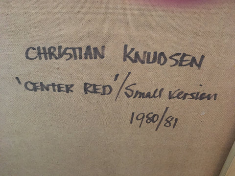 "CHRISTIAN KNUDSEN ""CENTER RED"" 1980/81"