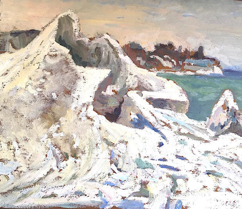 "GEORGE ALFRED PAGINTON ""ICE MOUNTAIN AT THE LAKE"" 1958"