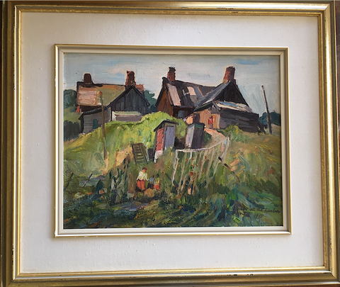OLD HOUSES AT THE HUMBER, TORONTO, Paginton, Group of Seven, Tom Thomson, AY Jackson, Odon Wagner, Lock Gallery, Alan Klinkhoff, Heffel, PAMA, Peel Art Gallery
