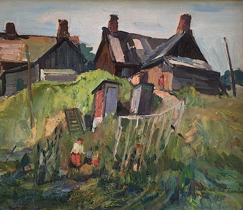 "GEORGE ALFRED PAGINTON, ""OLD HOUSES AT THE HUMBER, TORONTO"" 1935"