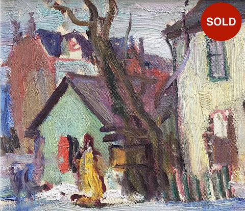 "GEORGE ALFRED PAGINTON ""OLD HOUSES IN TORONTO"" 1940"