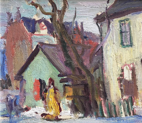 OLD HOUSES IN TORONTO, Paginton, Group of Seven, Tom Thomson, AY Jackson, Odon Wagner, Lock Gallery, Alan Klinkhoff, Heffel, PAMA, Peel Art Gallery