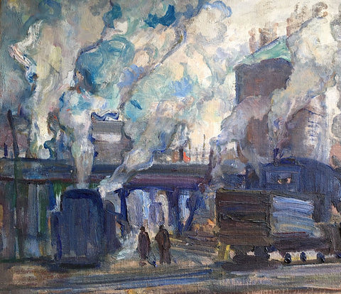 RAILWAY YARD, Paginton, Group of Seven, Tom Thomson, AY Jackson, Odon Wagner, Lock Gallery, Alan Klinkhoff, Heffel, PAMA, Peel Art Gallery