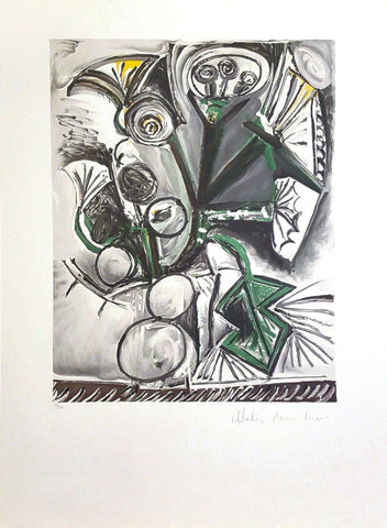 "AFTER PABLO PICASSO, COLLECTION MARINA PICASSO ""LE BOUQUET"" 1969"