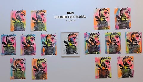 Checker Face Floral