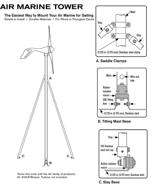 Primus Air Marine Tower and Hardware Kit