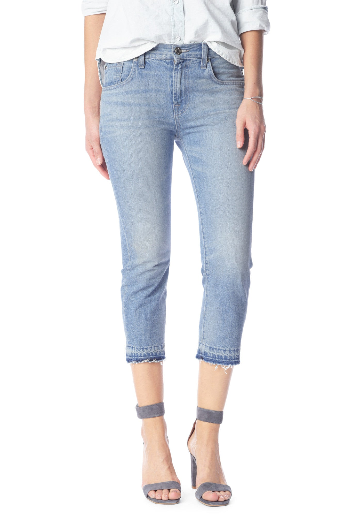 7 For All Mankind Cropped Relaxed Skinny