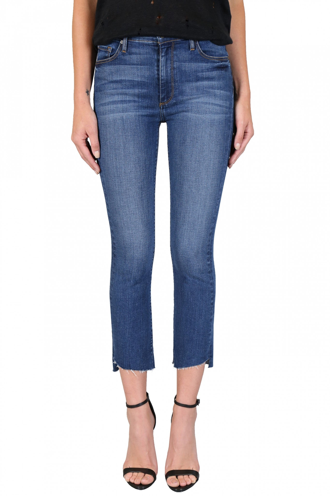 Black Orchid Slant Fray Denim