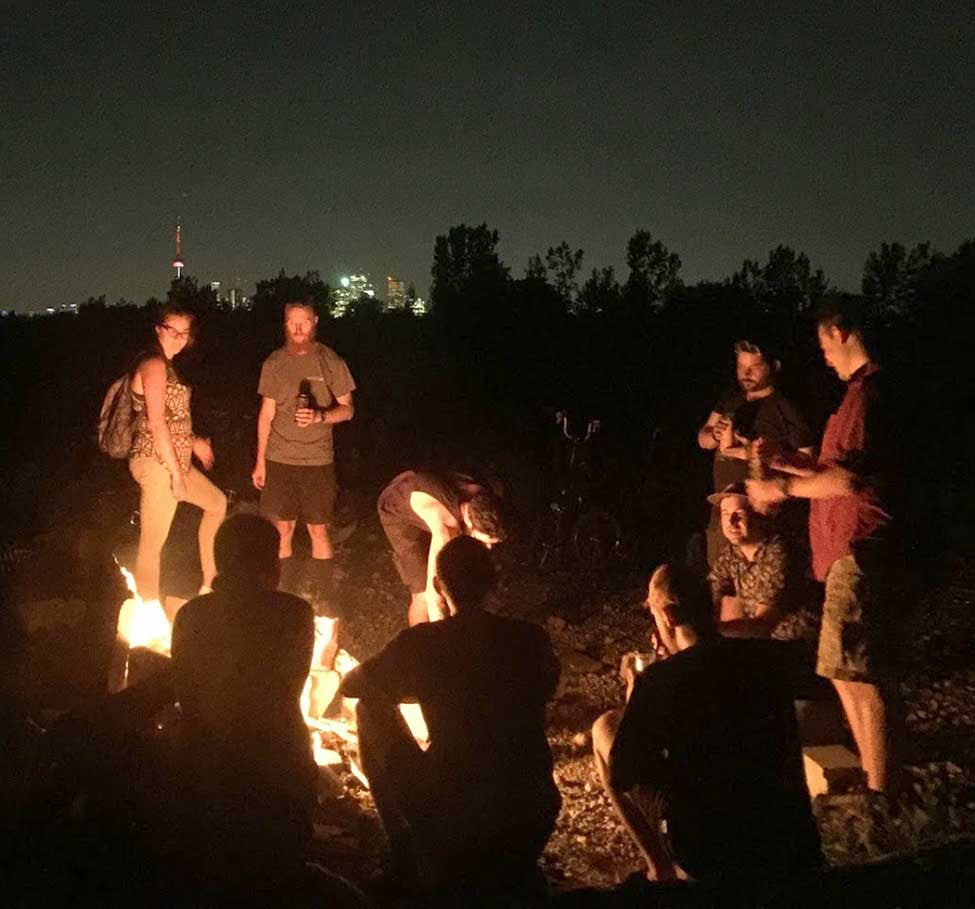 A Campfire with Friends