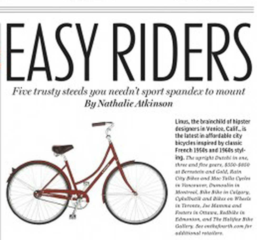 Our Bikes hit the National Post