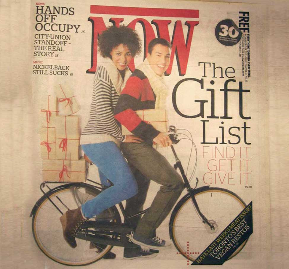 Bobbin & Curbside in the Now Magazine Gift Guide!