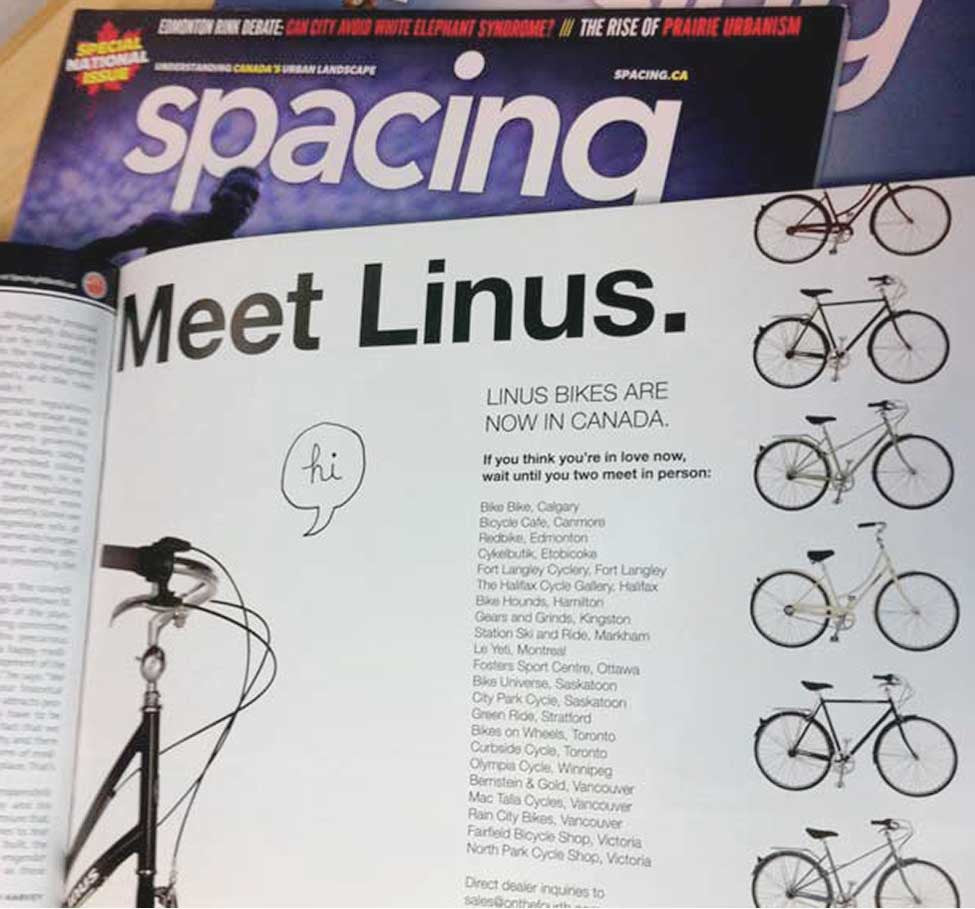 Press: Linus Bikes in Spacing Magazine