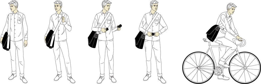 How to wear a bBrooks Barbican Messenger Bag