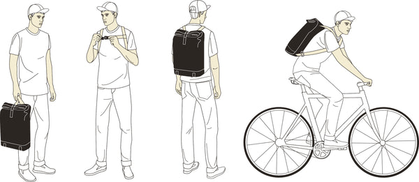 Brooks Pickwick Backpack how to wear diagram