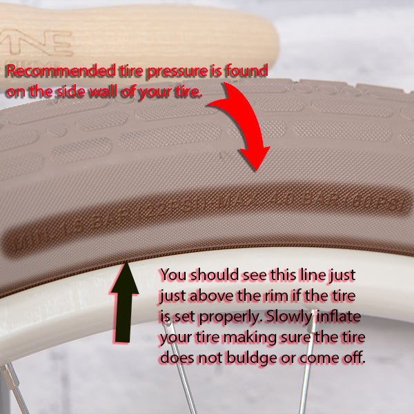 Bicycle Tire Side Wall Tire Pressure
