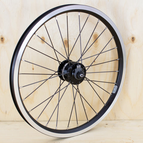 Brompton SP SV-8 Custom Dynamo Wheel In Black