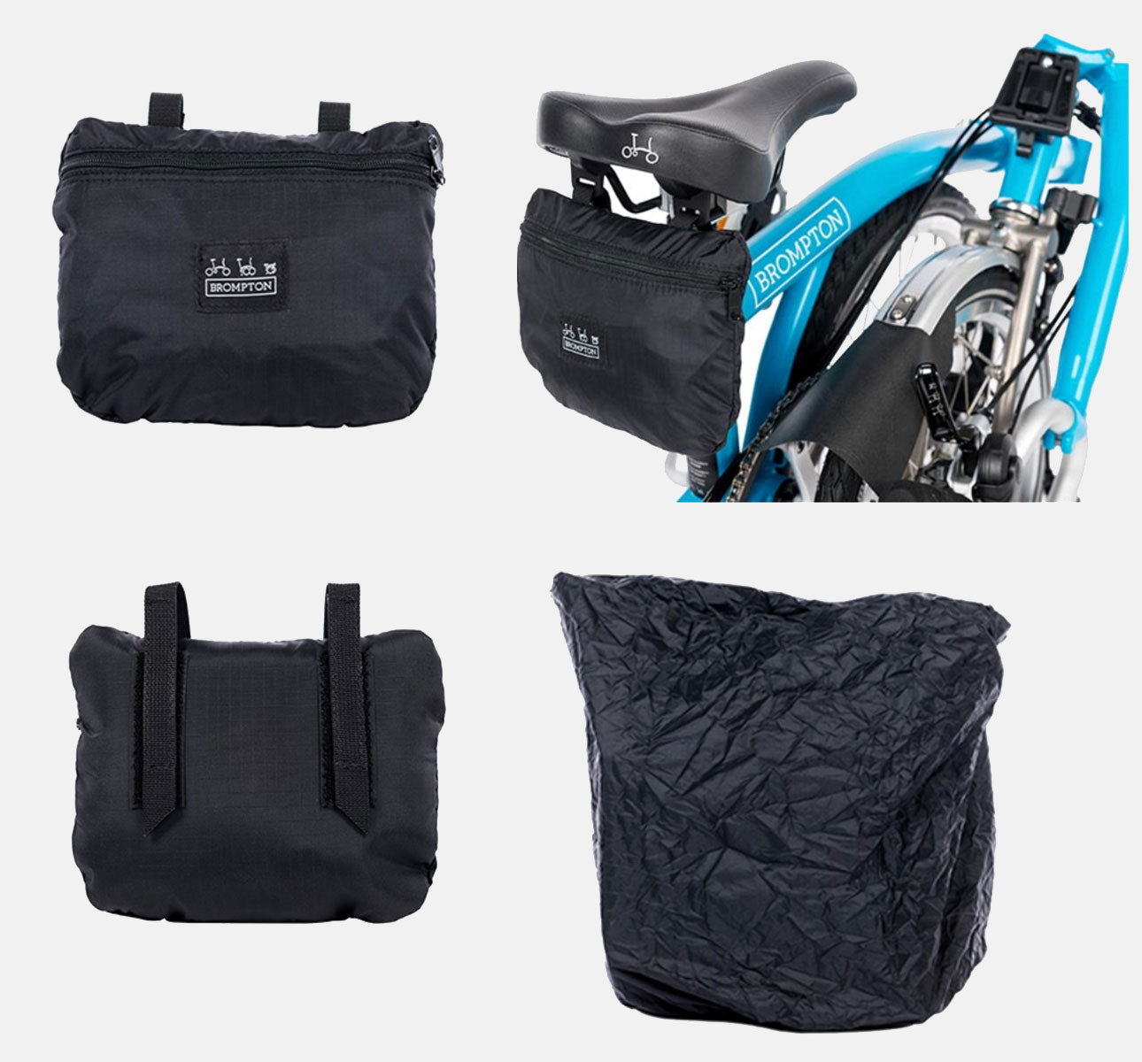 Brompton Bike Cover with Integrated Saddle Pouch