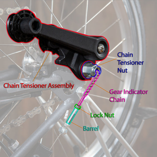 Brompton Chain Tensioner Assembly Tensioner