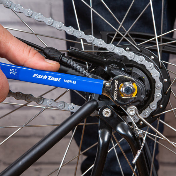 bicycle maintenance loosening nuts