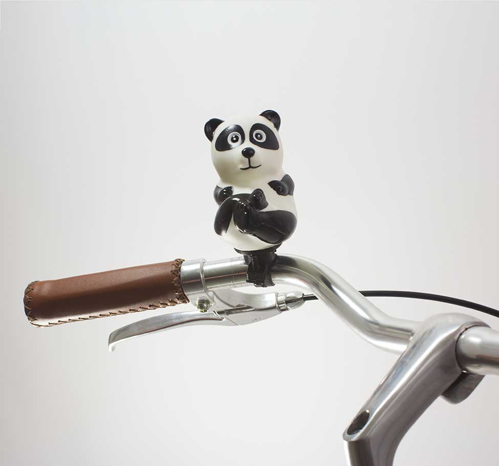 49N PANDA BICYCLE HORN ON HANDLEBAR