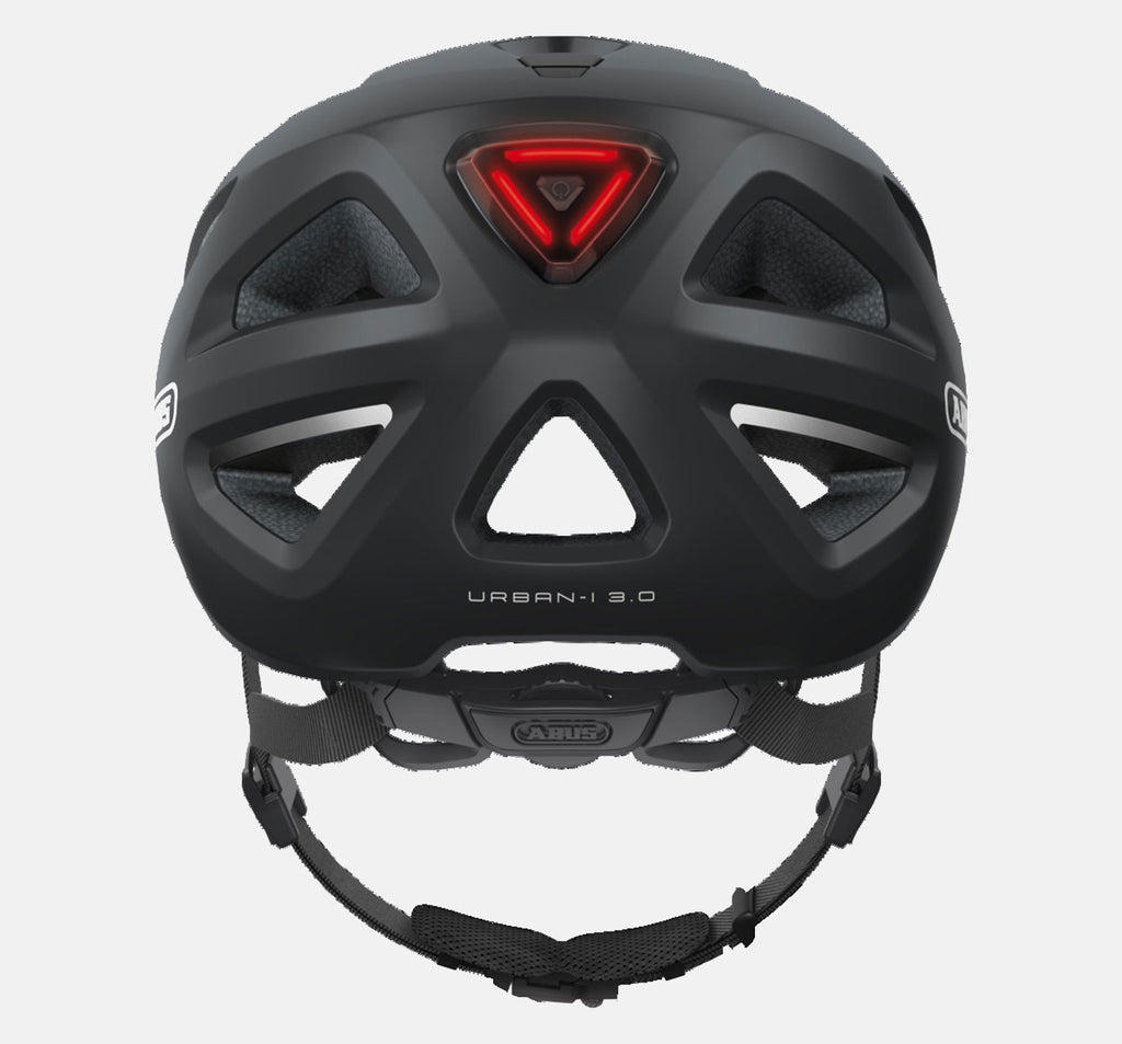 ABUS Urban 3.0 Helmet in Black - Rear View