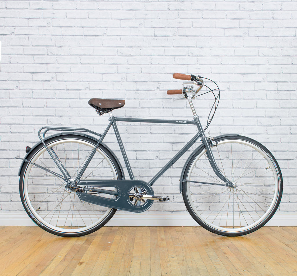 Achielle Basiel Opa Dutch Roadster City Bike in Steel Grey