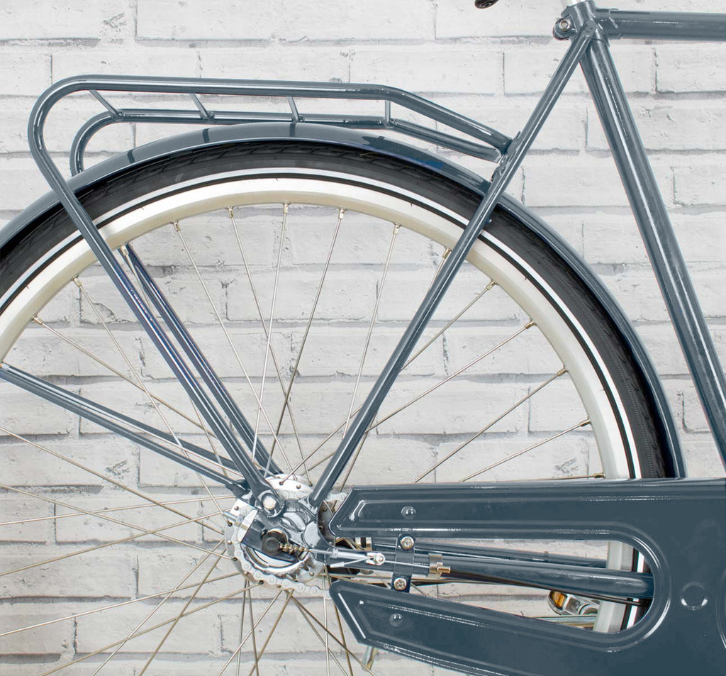 Achielle Basiel Opa Dutch Roadster City Bike in Steel Grey - Rear Detail