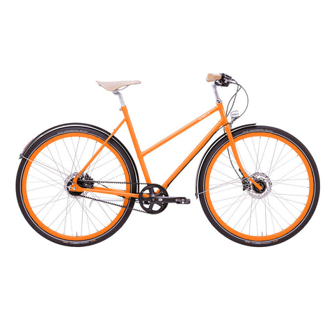 EMMA - E-BIKE - DUTCH STEP-THRU - GATES - MATTE TANGERINE - DEPOSIT