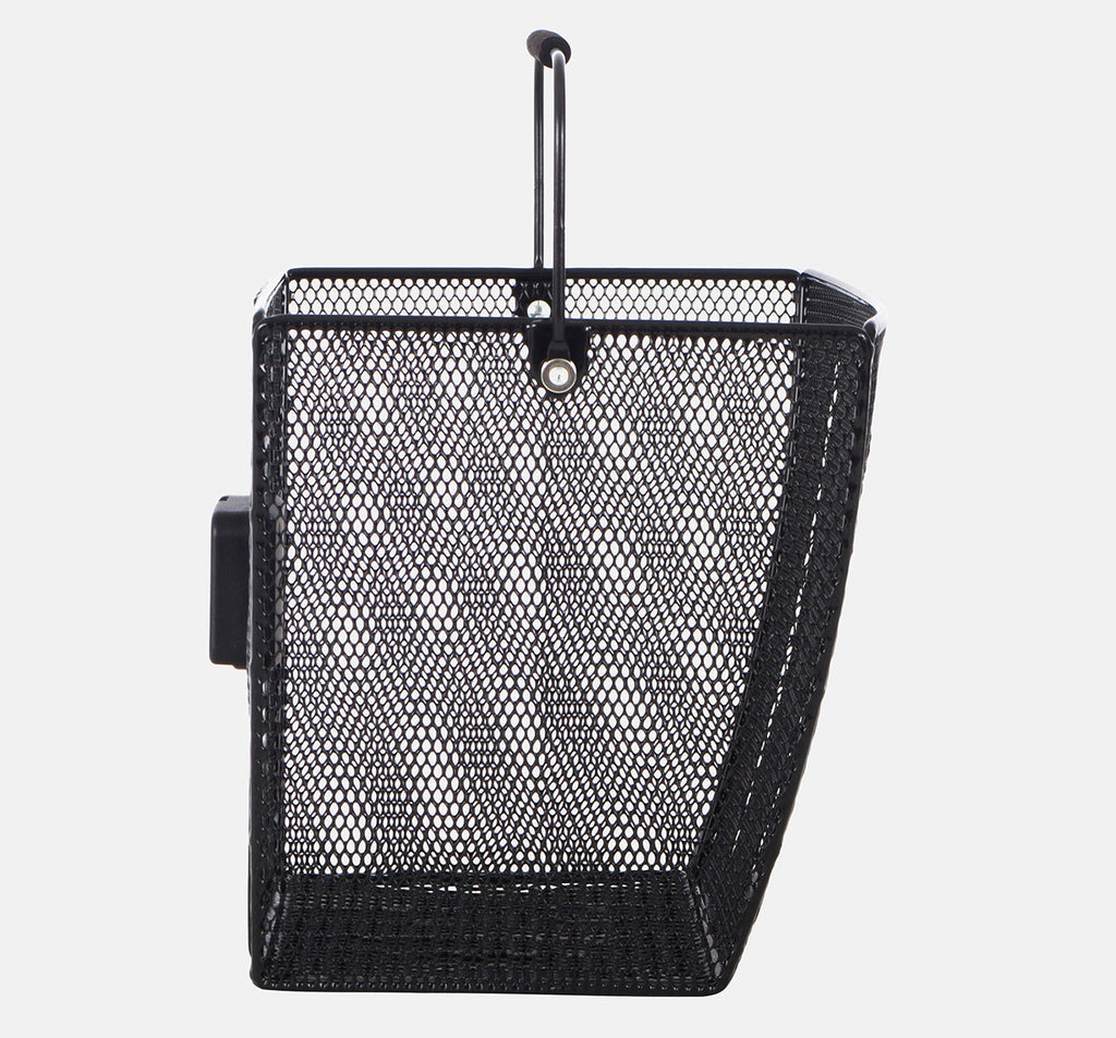 Around Ace Removable Front Basket in Black - Side View