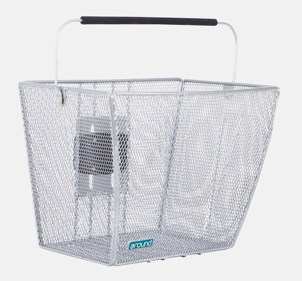 Around Ace Removable Front Basket in Silver
