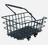 Around College Alu - Removable Aluminum Rear Bicycle Basket in Black