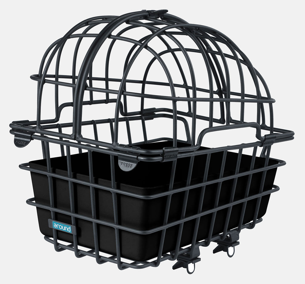 Around Bicycle Rear Pet Carrier with Built-In Cage