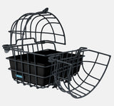 Around Bicycle Rear Pet Carrier with Cage Top Open