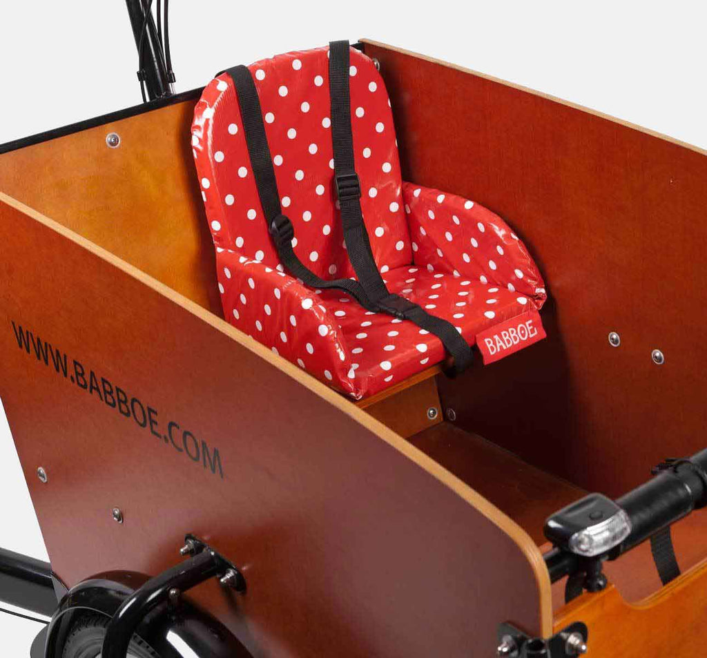 Babboe Comfy Child Seat with Red Polkadots For Babboe Big