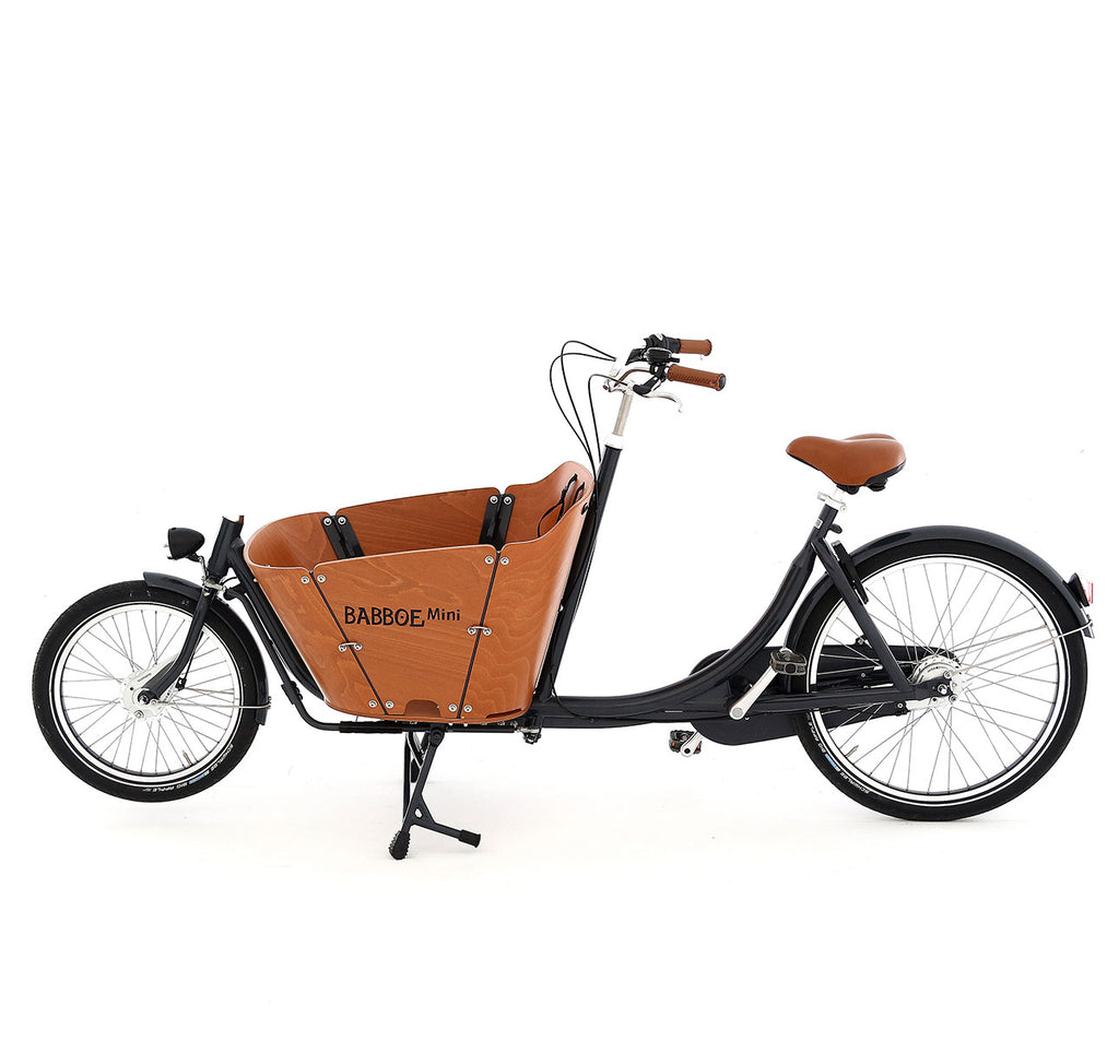 Babboe Mini Cargo Bike Side Profile - Bakfiets Two-Wheeled Dutch Cargo Bike