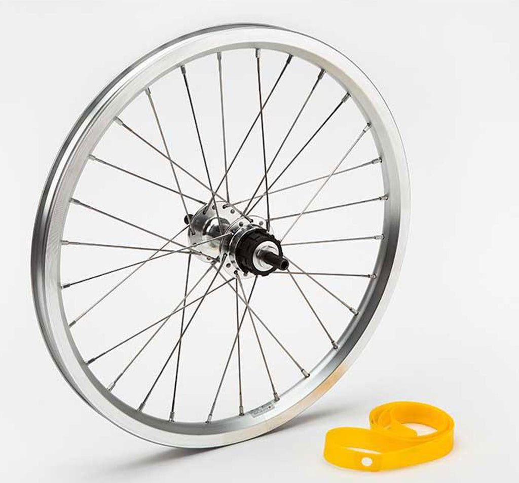 Brompton 1 & 2 Speed Rear Wheel in Silver