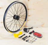 Brompton Dynamo Lighting System - Black SP Dynamo SV9, Velocity Rim, B&M & Spanninga Lights